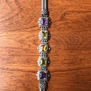 Jewelry - Sterling Silver and Gemstone Artisan Bracelet